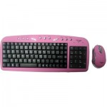 Hi Point KBMSEH-Pink Multimedia Keyboard & Mouse In Pink
