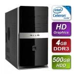 Intel Celeron G1610 2.6GHZ Dual Core  mATX System 4GB RAM 500GB Hard Drive No OS