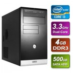 Intel Core i3 3220 Ivy Bridge 3.3GHz Dual-core mATX System 4GB RAM 500GB Hard Drive No OS