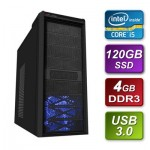 Intel Core i5 3470 3.2GHz Quad Core mATX System 4GB RAM 120GB SSD 500w PSU NO OS