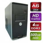 AMD Richland A6-6400K Black Edition 3.9GHz Dual Core  mATX System 4GB RAM 500GB Hard Drive No OS