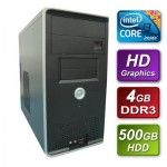 Intel i3 3220 Ivy Bridge 3.3GHz Dual Core  mATX System 4GB RAM 500GB Hard Drive No OS