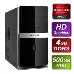 AMD Trinity A4-5300 3.4GHz Dual Core mATX System 4GB RAM 500GB Hard Drive No OS