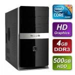 Intel i3 3220 Ivy Bridge 3.3GHz Dual Core mATX System 4GB RAM 500GB Hard Drive No OS