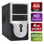 AMD Richland A6-6400K 3.9GHz Dual Core mATX System 4GB RAM 500GB Hard Drive No OS